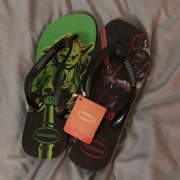 14ac6f526 NWT Men s Star Wars Havaianas Flip Flops Sandals